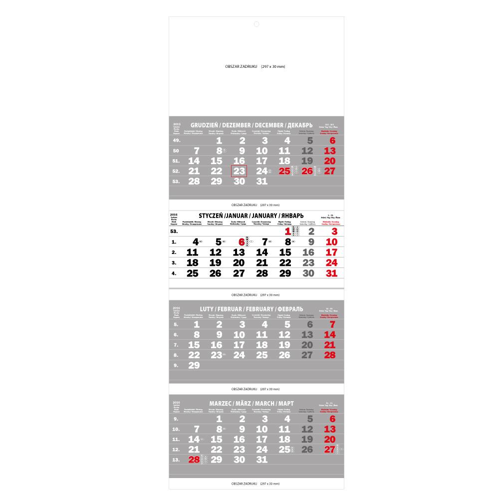 polsky kalendar Ścienny kalendarz Czteromiesięczny kalendarz składany polski 2016  polsky kalendar