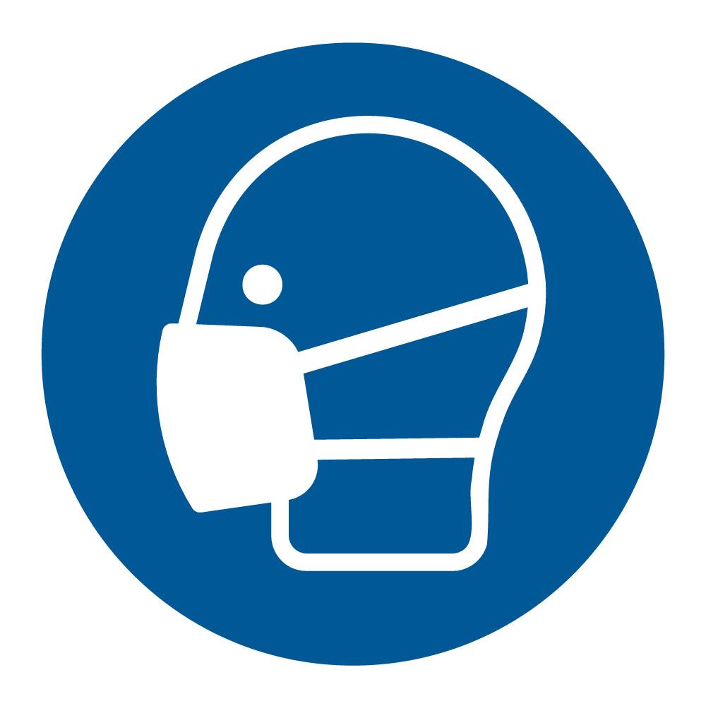 Používej ochrannou roušku - SYMBOL, samolepka 100x100 | AAApapir.cz